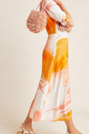 Dolan Coral Tie Dye Shirtdress - Front full body