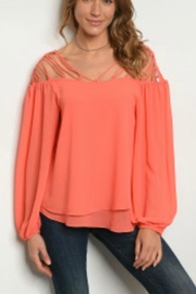 Very J Coral Top - Product Mini Image