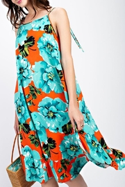 easel Coral-Turquoise Sundress - Product Mini Image