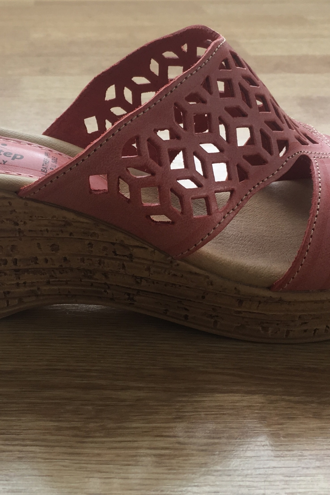 Spring Step  coral vino wedge - Front Full Image