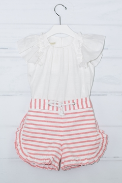 Shoptiques Product: Coral & White Outfit