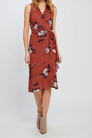 Gentle Fawn Coral Wrap Dress - Product Mini Image