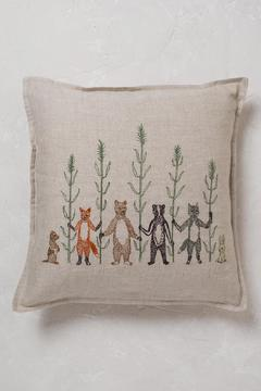 Shoptiques Product: Embroidered Harvest Pillow