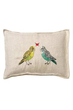 Coral & Tusk Embroidered Pillow Parakeet-Love - Alternate List Image