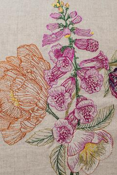 Coral & Tusk Foxglove Embroidered Pillow - Alternate List Image