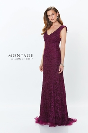 Montage Corded & Embroidered Long Dress - Product Mini Image