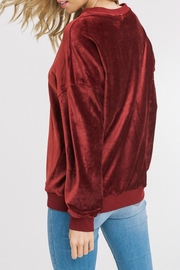 Listicle Corded Velour Pullover - Side cropped