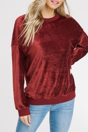 Listicle Corded Velour Pullover - Front cropped