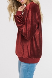 Listicle Corded Velour Pullover - Front full body