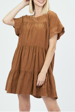 Very J corduroy baby doll dress - Product List Image