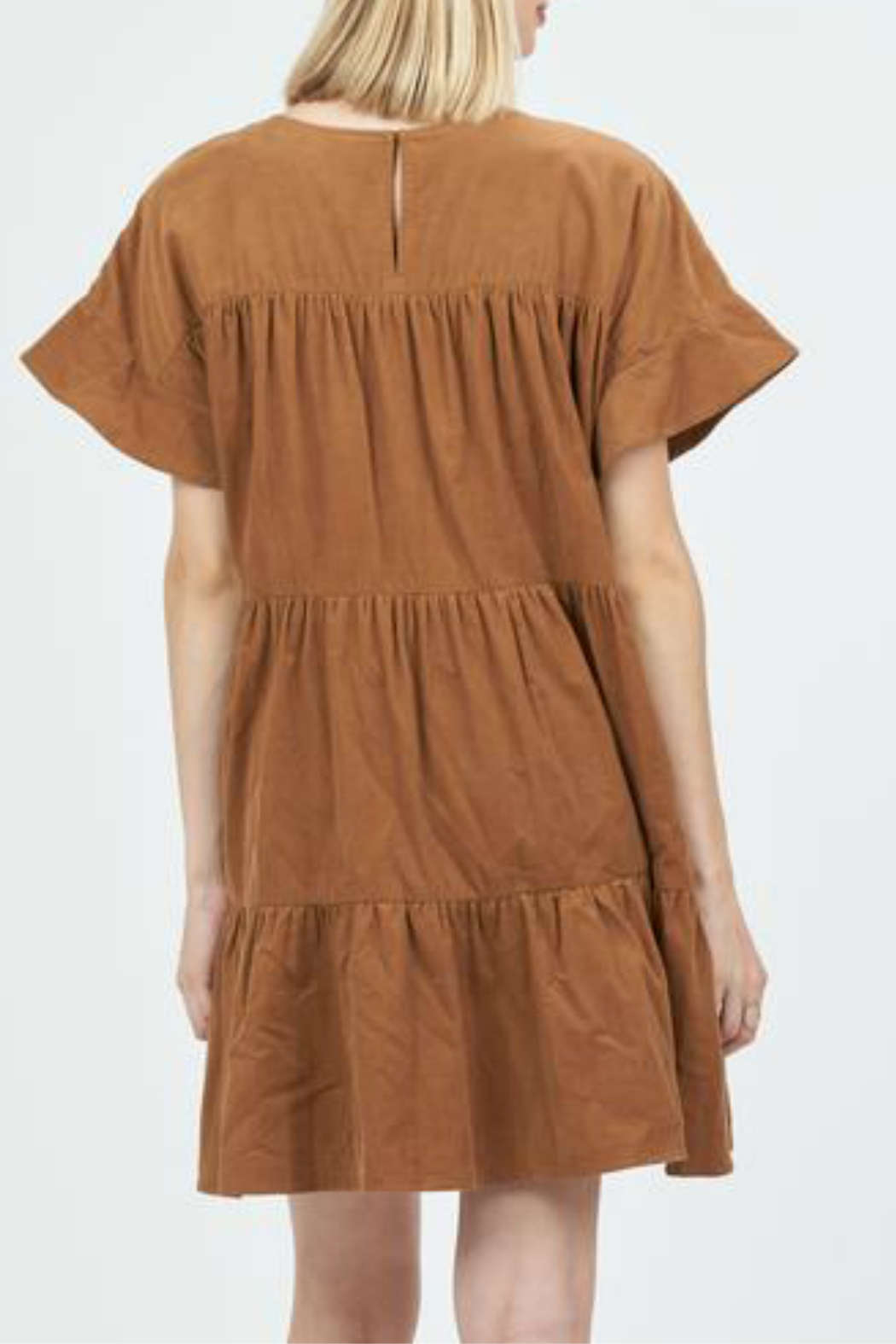 Very J  corduroy baby doll dress - Front Full Image