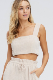 Emory Park CORDUROY CROP TOP - Front cropped
