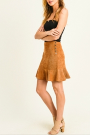 Doe & Rae Corduroy Flounce Hem Skirt - Front full body
