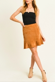 Doe & Rae Corduroy Flounce Hem Skirt - Product Mini Image