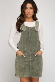 Fashion District LA Corduroy Jumper Dress - Product Mini Image