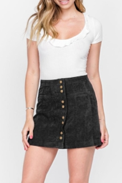 Fore Collection Corduroy Mini Skirt - Alternate List Image