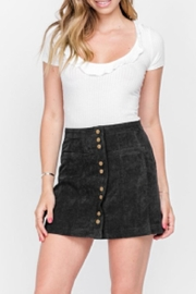 Fore Collection Corduroy Mini Skirt - Product Mini Image