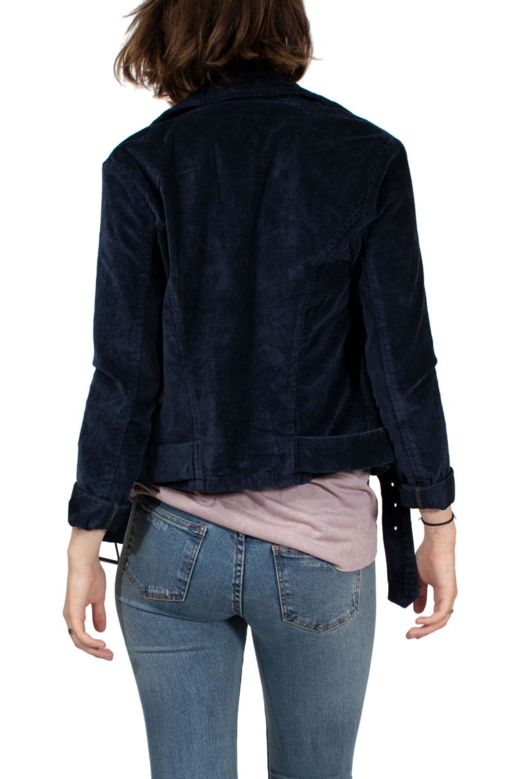 RVCA Corduroy Motorcycle Jacket - Back Cropped Image