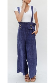 Skies Are Blue Corduroy Navy Overalls - Product Mini Image