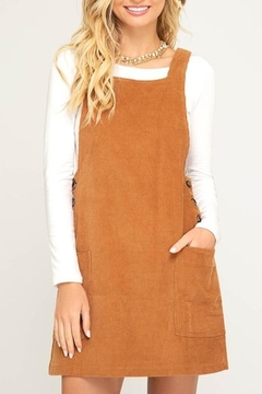 Shoptiques Product: Corduroy Overall Dress