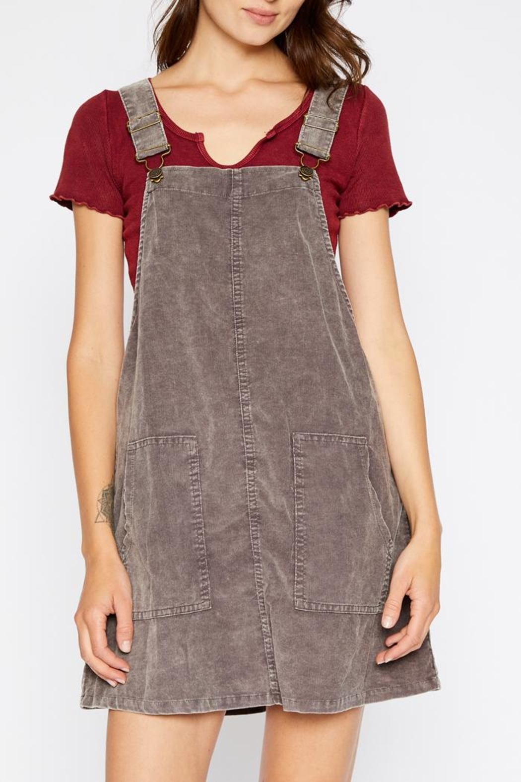 bf81505d5f04b6 Sadie   Sage Corduroy Overall Dress from New York by Luna — Shoptiques