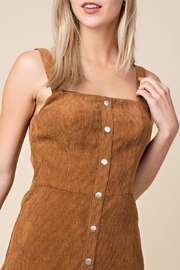 Honey Punch Corduroy Overall Dress - Side cropped
