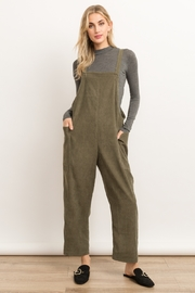 Hem and Thread Corduroy Overalls - Product Mini Image