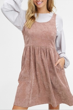 Listicle Corduroy Pocket Dress - Product List Image
