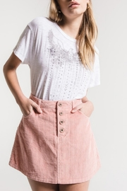 White Crow Corduroy Skirt - Front cropped