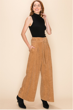 HYFVE Corduroy Tan Culotte Pants - Product List Image