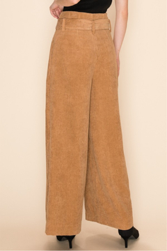 HYFVE Corduroy Tan Culotte Pants - Alternate List Image