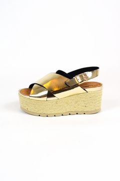Shoptiques Product: Gold Wedge Sandals