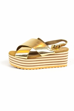 Shoptiques Product: Gold Wedges Sandals