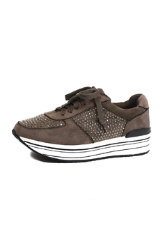 Shoptiques Product: Taupe Fashion Sneakers