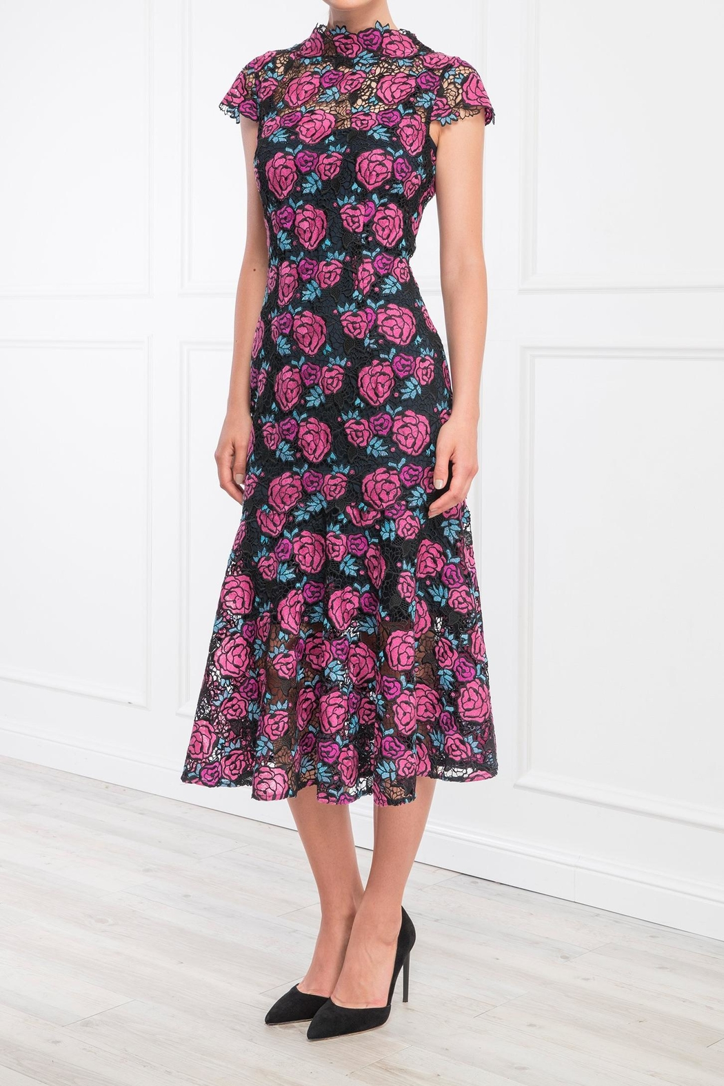 Moss and Spy Corinne Floral Dress - Front Full Image