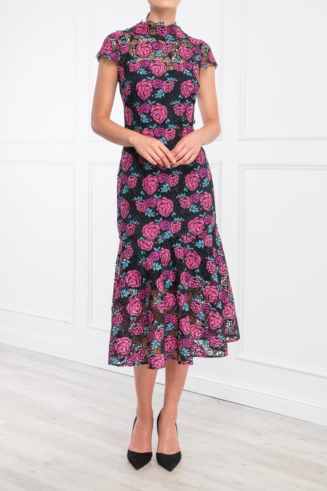 Moss and Spy Corinne Floral Dress - Main Image