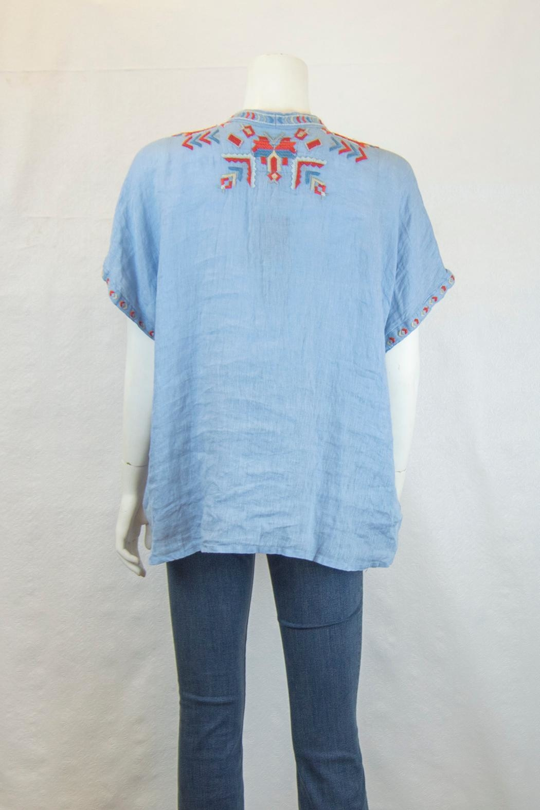Biya by Johnny Was Corinne Linen Blouse - Front Full Image
