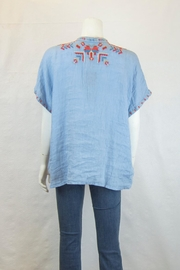 Biya by Johnny Was Corinne Linen Blouse - Front full body