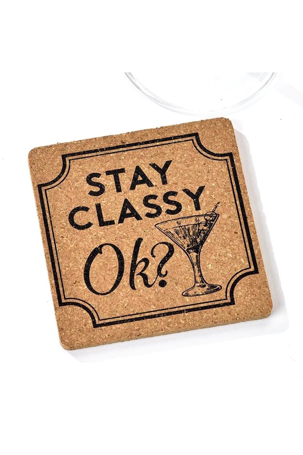 Gift Craft Cork Coaster, Classy - Front Cropped Image