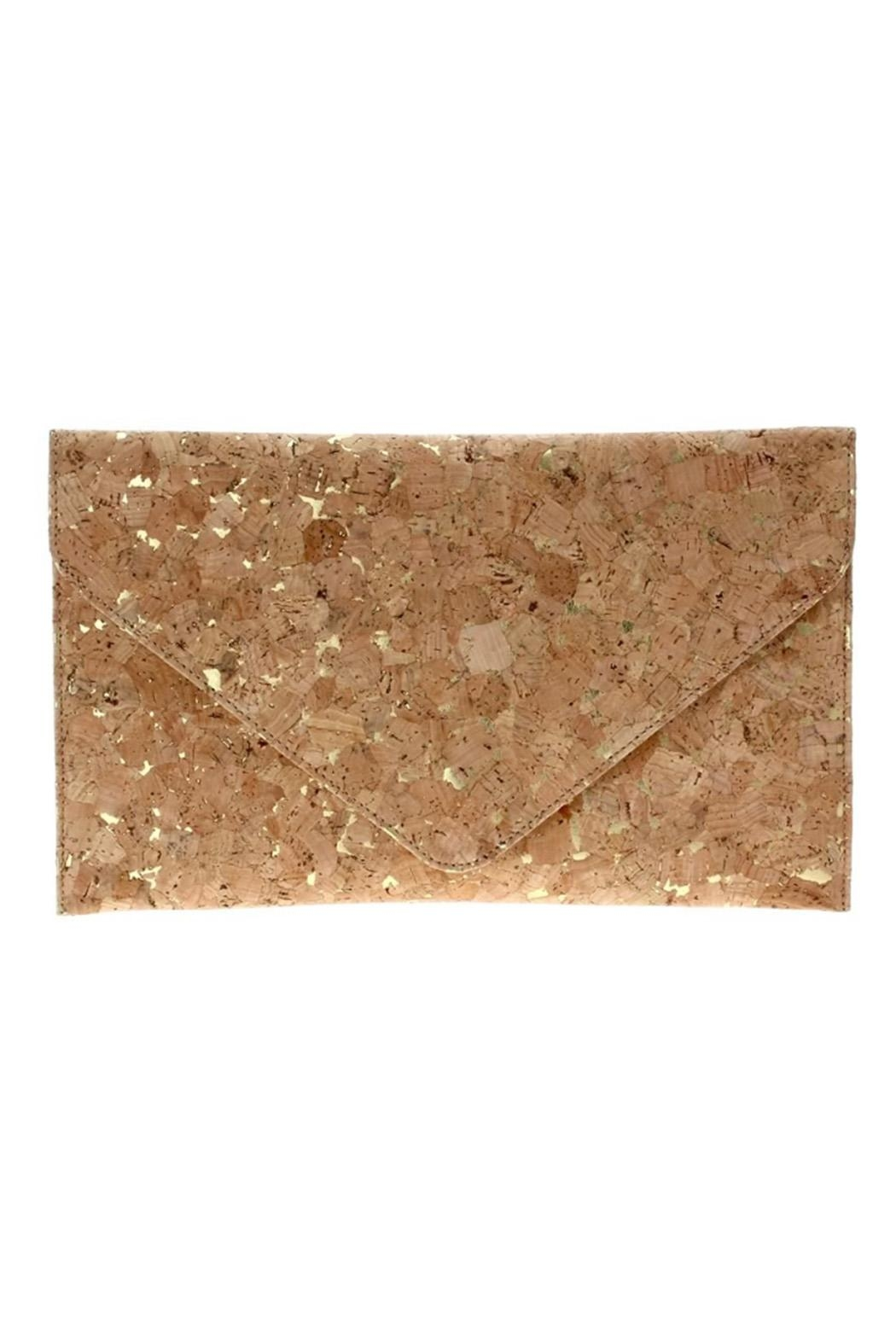 joseph d'arezzo Cork Flake Clutch - Front Cropped Image