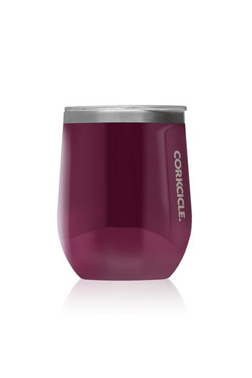 Corkcicle Monogrammed Stemless Wine Glass - Front Cropped Image