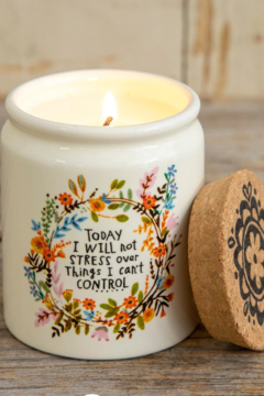Natural Life Corked Candle I Will Not Stress - Alternate List Image