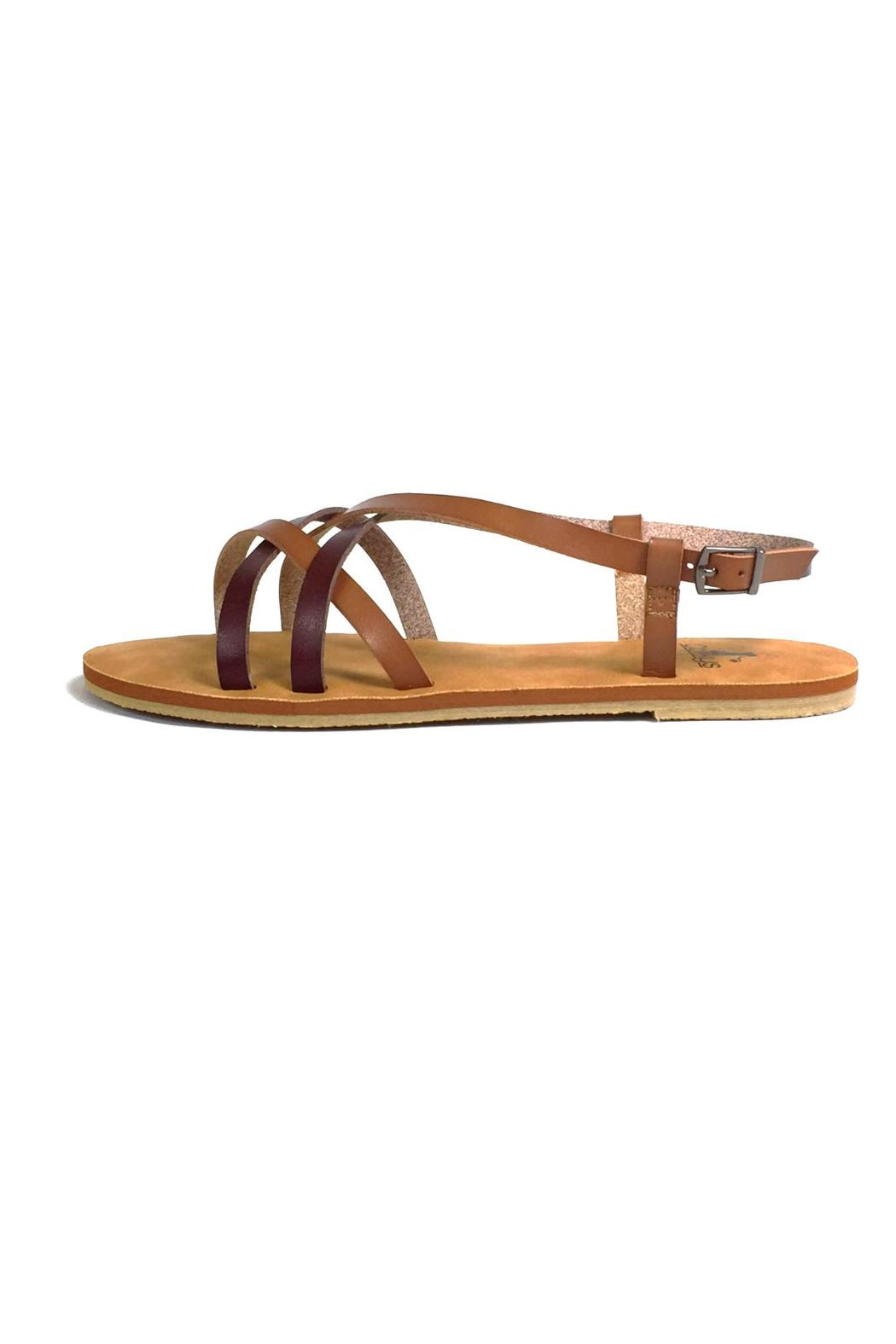 b2eab8acc7d Corky s Brown Crisscross Sandals from Kentucky by Izzie s Boutique ...