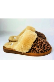 Corky's Shoes Leopard Slippers - Front cropped