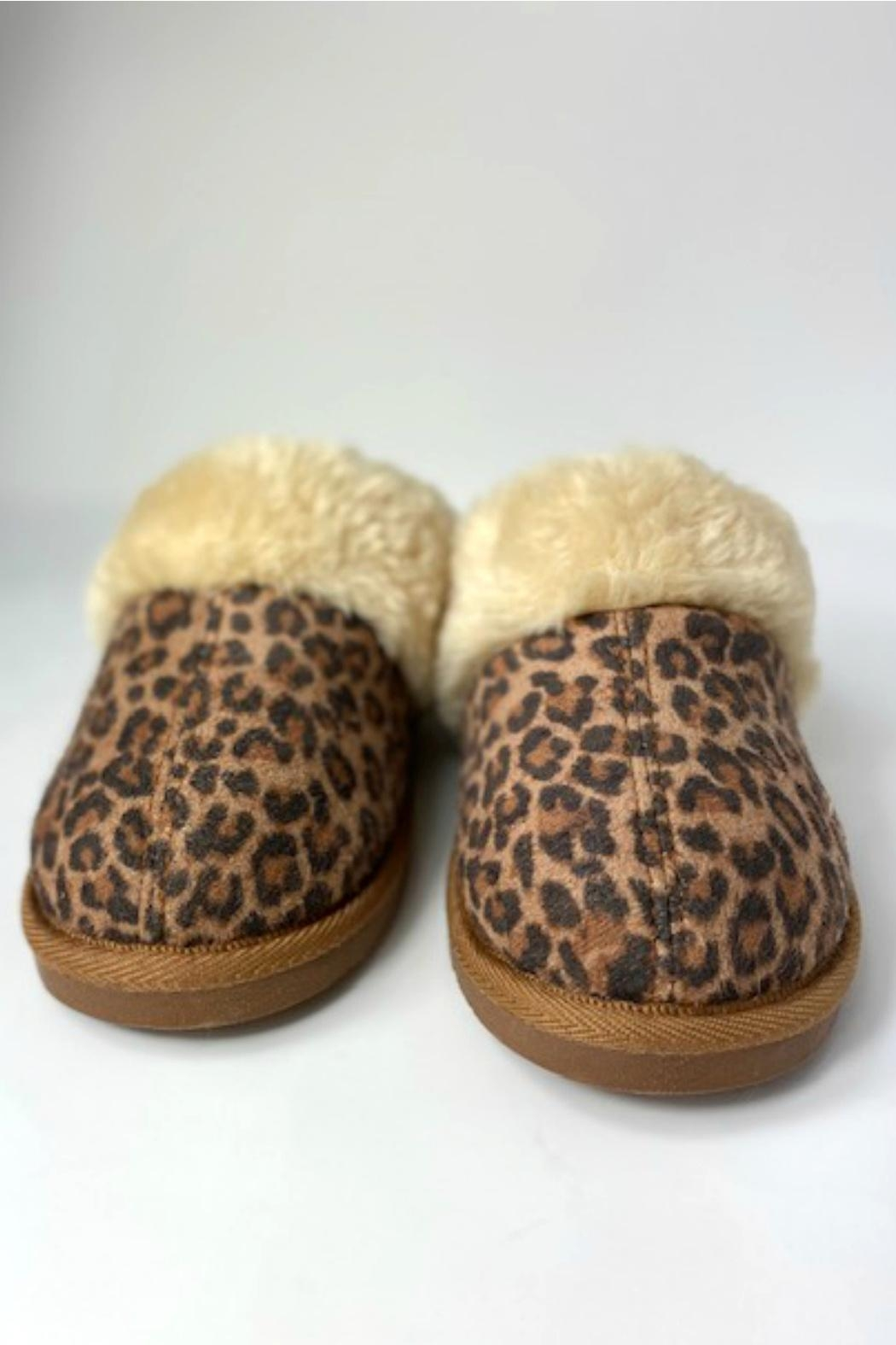 Corky's Shoes Leopard Slippers - Front Full Image