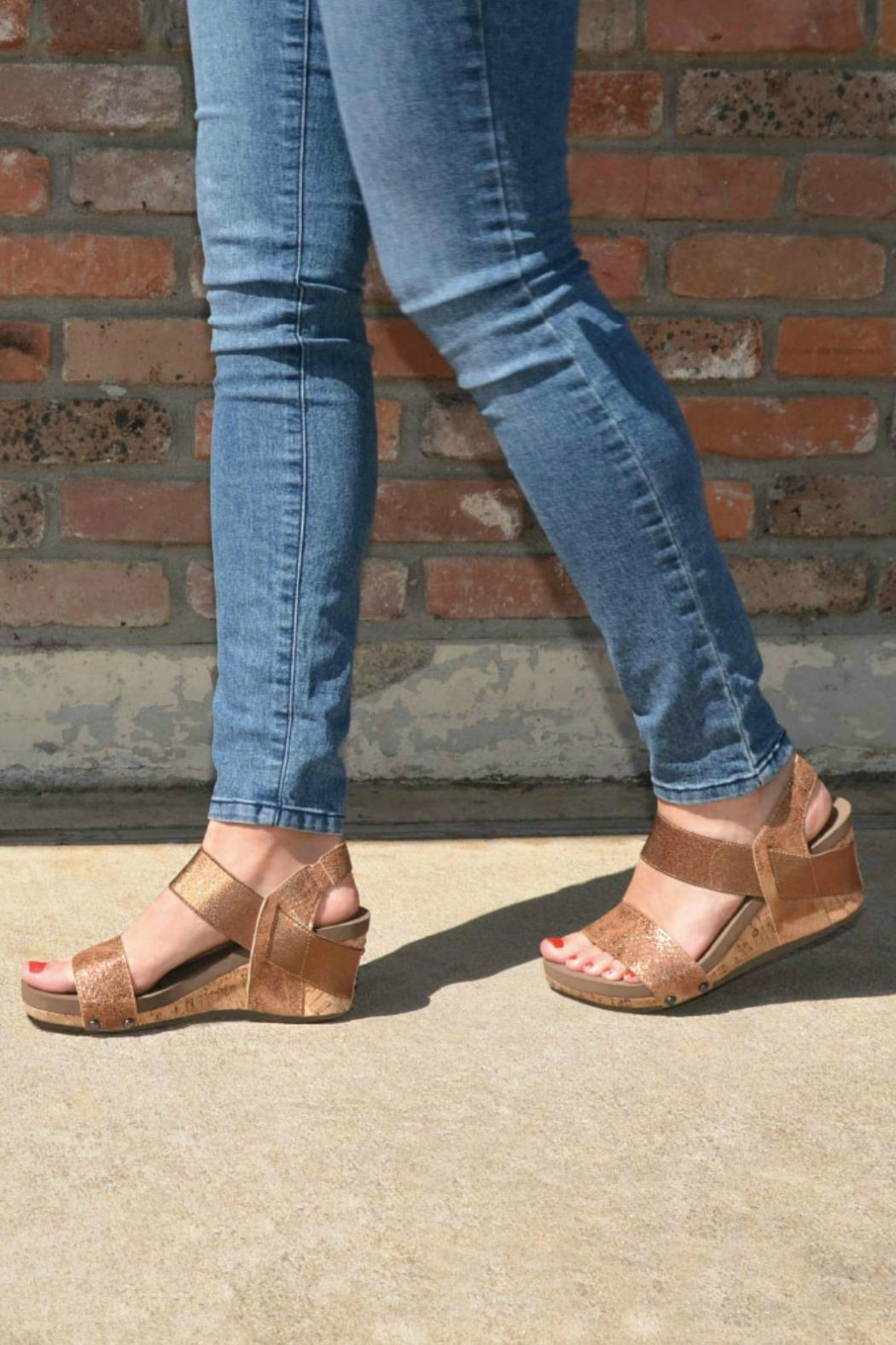ea78ad4fd55 Corkys Bandit Wedge Sandal from California by Apricot Lane - Folsom ...