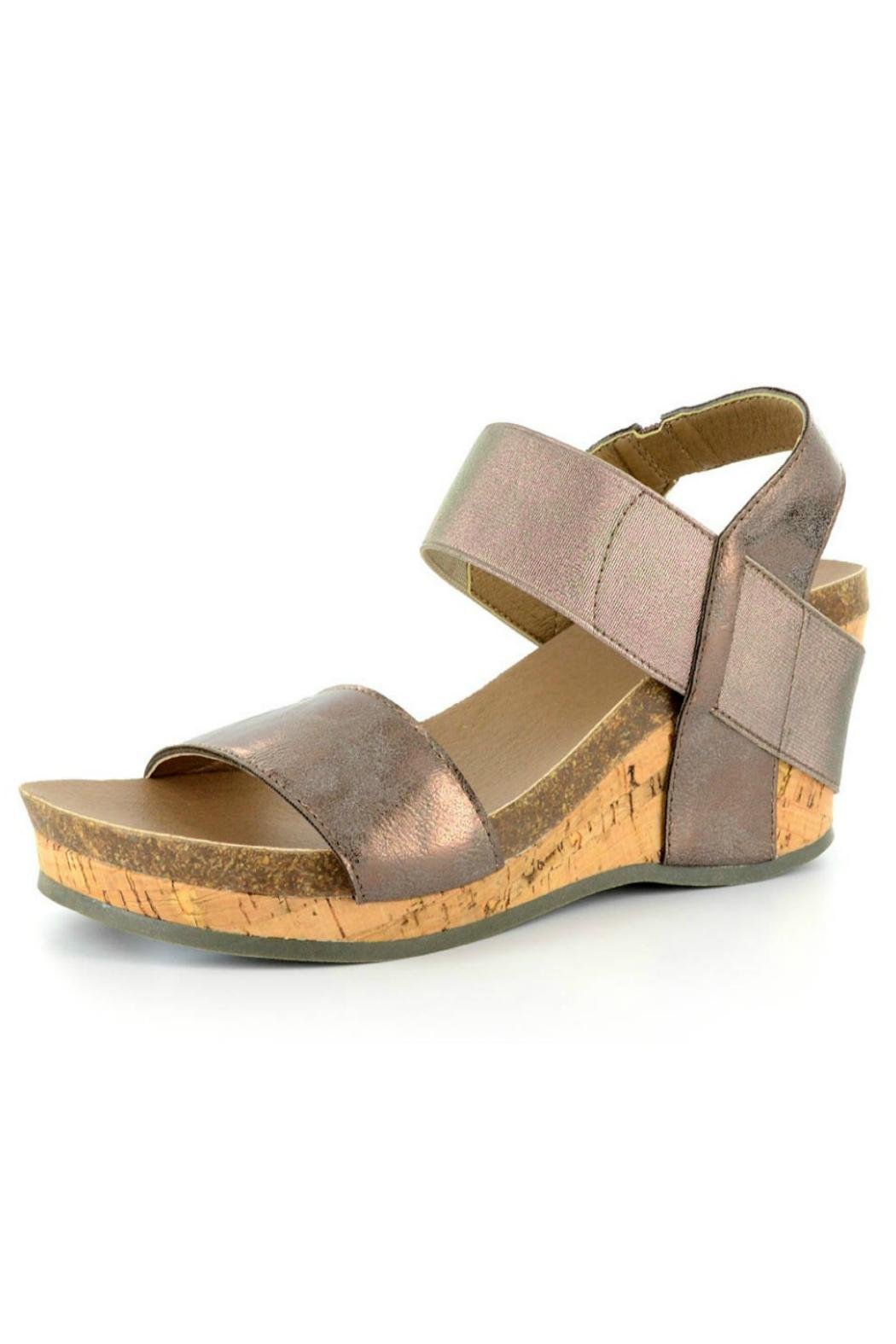 Corkys Bronze Low Wedge From Nashville By The Peacock Lane