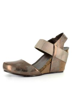 Shoptiques Product: Close-Toed Bronze Wedge