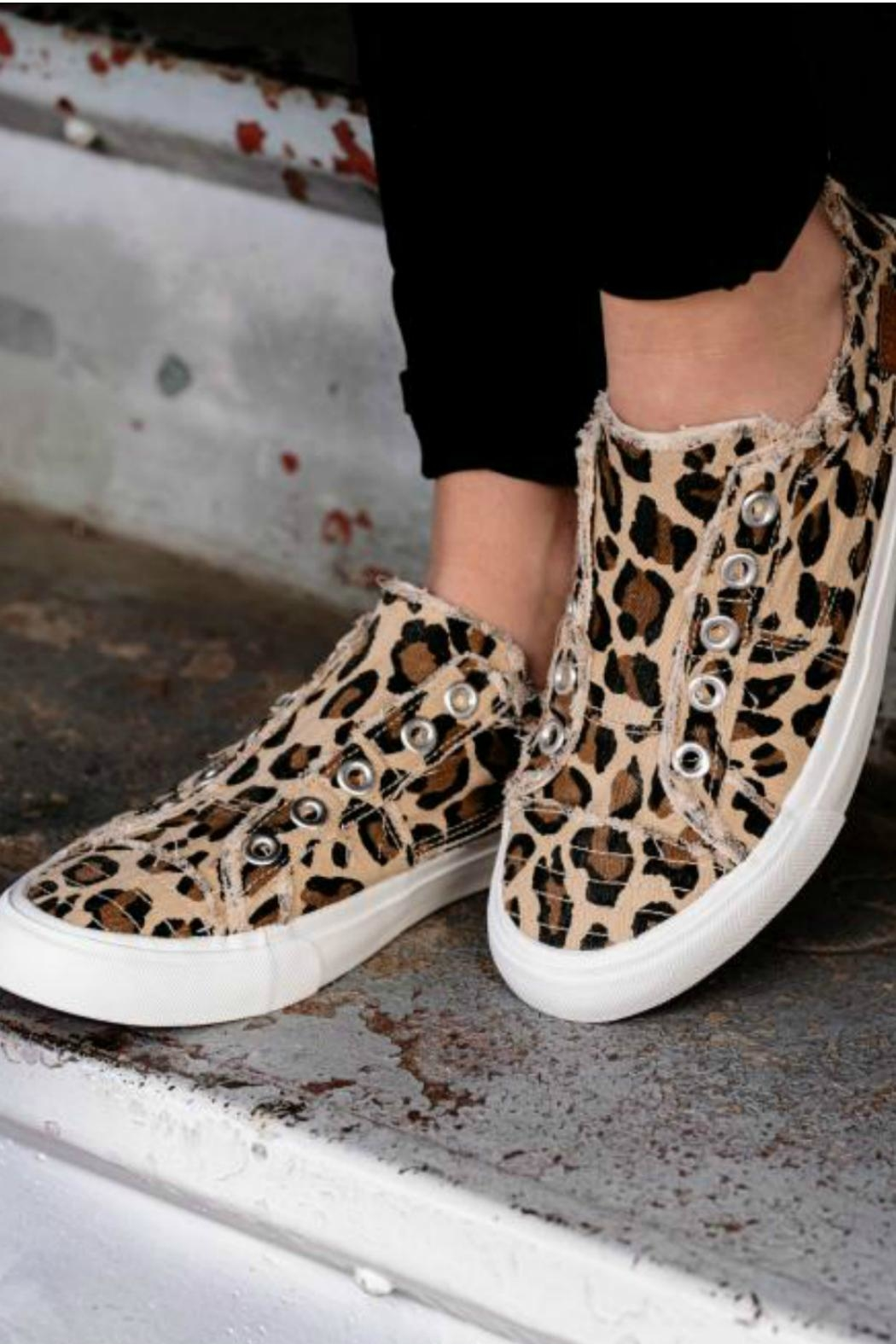 Corkys Leopard Canvas Shoe - Front Full Image