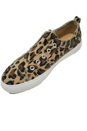Corkys Leopard Canvas Shoe - Product Mini Image